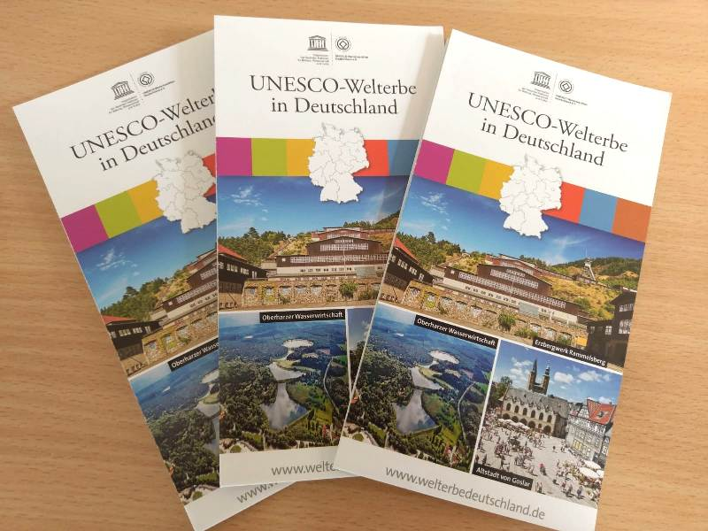 Deutschlandkarte Mit Allen 46 Unesco Welterbestatten Unesco Welterbe