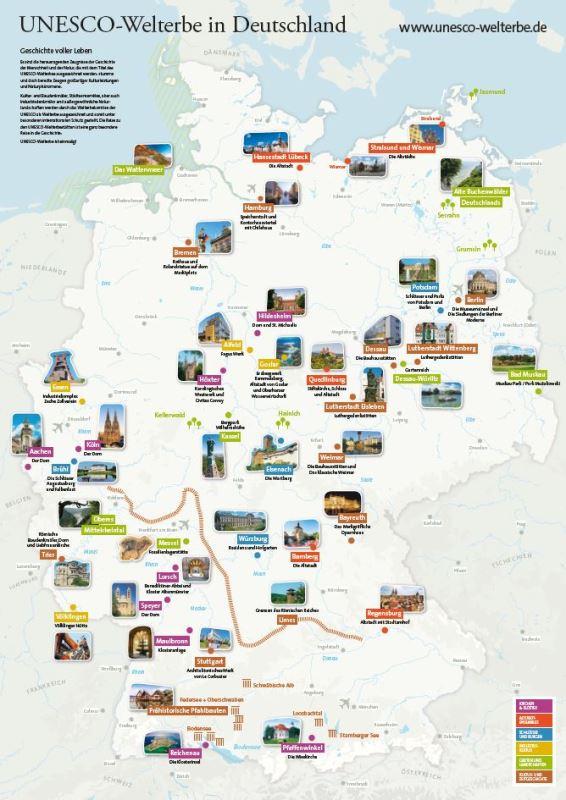schlösser deutschland karte Karte UNESCO Welterbestätten Deutschland – UNESCO Welterbestätten